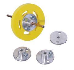 BAG-ARAXE-D3 Bague aluminium d'arrêt de roue pour axe D3 mm (D ext. 21 mm)