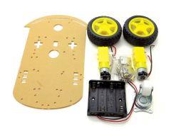 Chassis de prototypage robotique 2 moteurs 2 roues