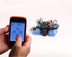 Logiciel AppInventor 2 pour tablettes, avec MiniRobot opt° Bluetooth