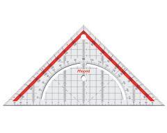 Equerre géométrique, hypoténuse 26 cm